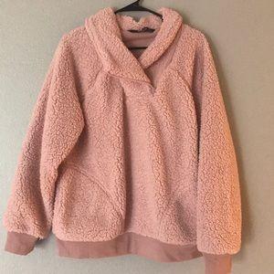 Gorgeous blush xxl Sherpa Pullover NWOT